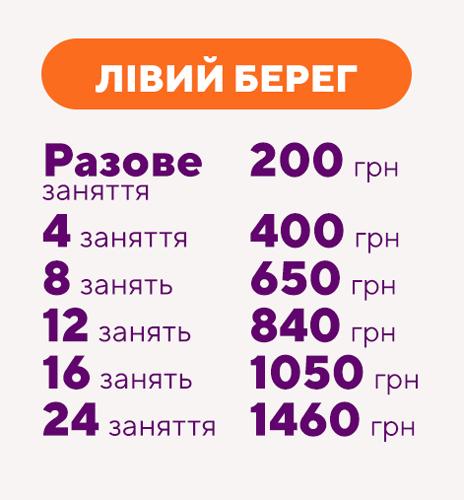 Цена на уроки танцев Днепр